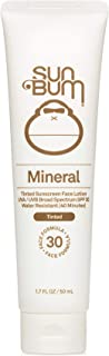 product image for Sun Bum Mineral SPF 30 Tinted Sunscreen Face Lotion | Vegan and Reef Friendly (Octinoxate & Oxybenzone Free) Broad Spectrum Natural Sunscreen with UVA/UVB Protection | 1.7 oz