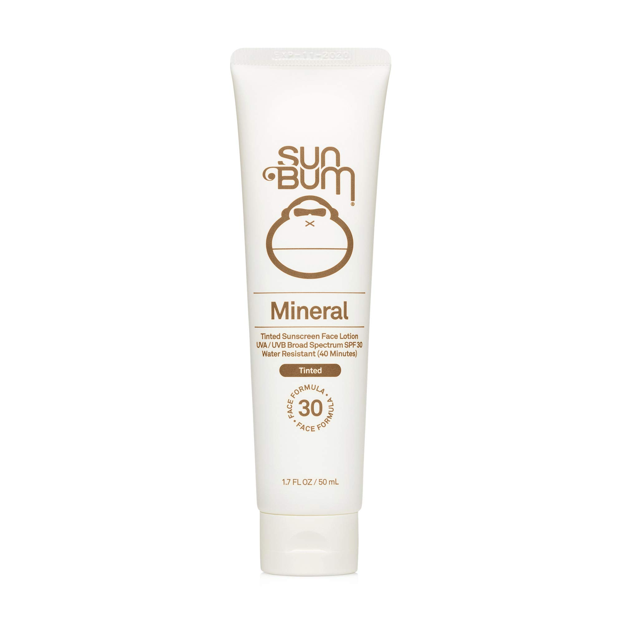 Sun Bum Mineral SPF 30 Tinted Sunscreen Face Lotion | Vegan and Reef Friendly (Octinoxate & Oxybenzone Free) Broad Spectrum Natural Sunscreen with UVA/UVB Protection | 1.7 oz