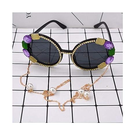 UICICI Gafas de Sol barrocas de Cristal de Colores para ...