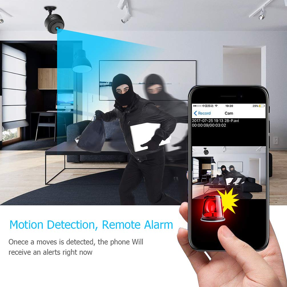 Hidden Camera Mini Spy Camera Wireless HD 1080P Mini Hidden Camera Portable Home Security Cameras Nanny Cam with Motion Detection and Night Vision(2019 Update) by Techworld Collections (Image #4)