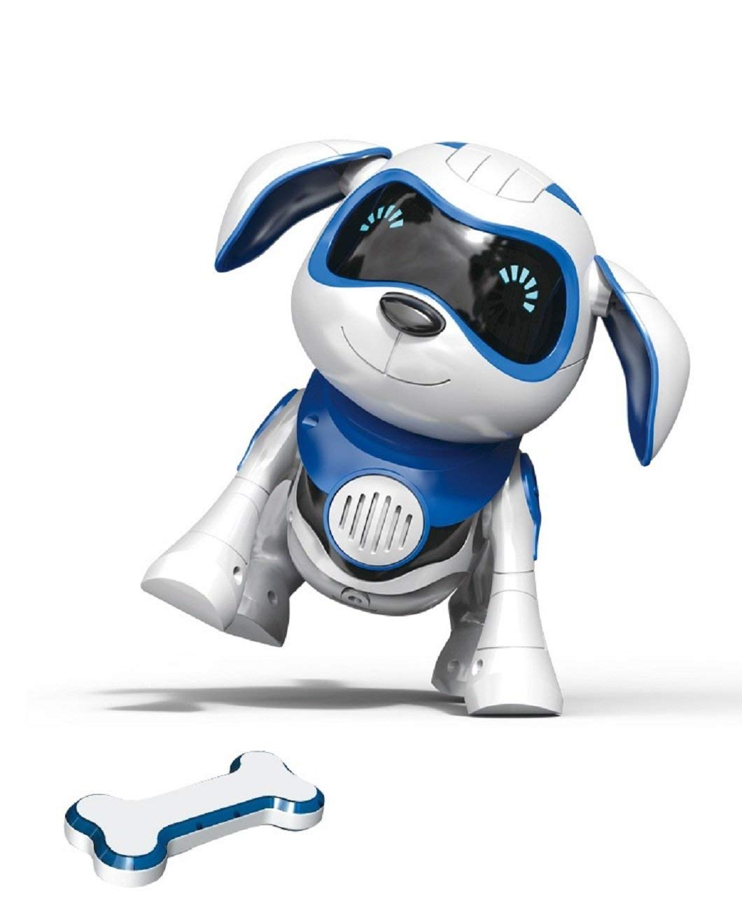 Yeezee Wirless Robot Puppy, Interactive Little Baby Pup with Magent Bone, Walking Talking Remote Control Dog, Robot Pet for Kids/Boys/Girls (BB-1) by Yeezee (Image #1)