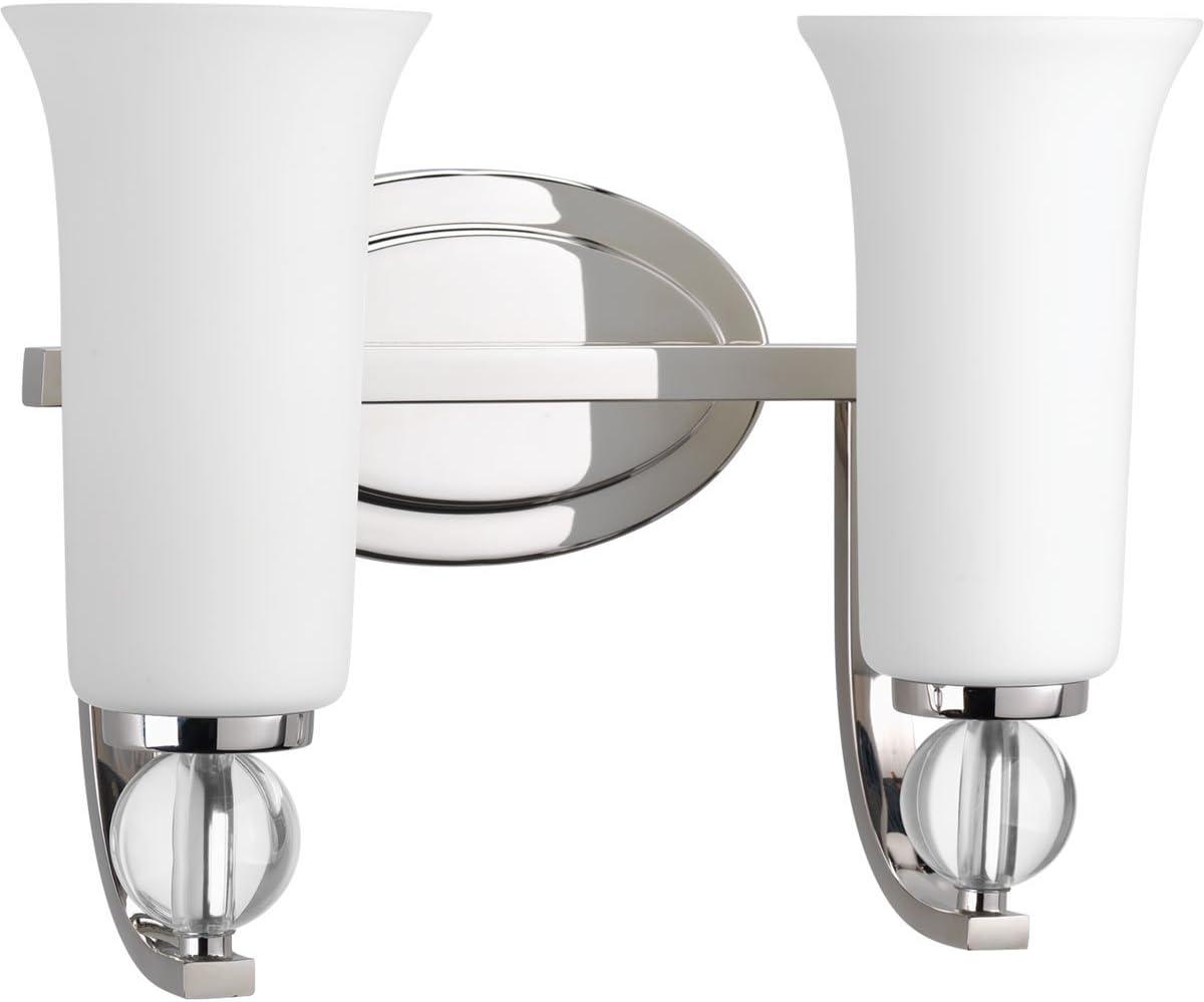 Polished Nickel Progress Lighting P2173-104 2-100W Medium Base Bath Bracket
