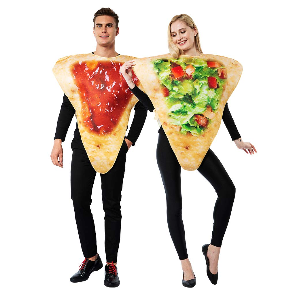 ReneeCho Adult Couple Halloween Costume Tortilla Chips Mens Food Mascot Womens Match Outfit