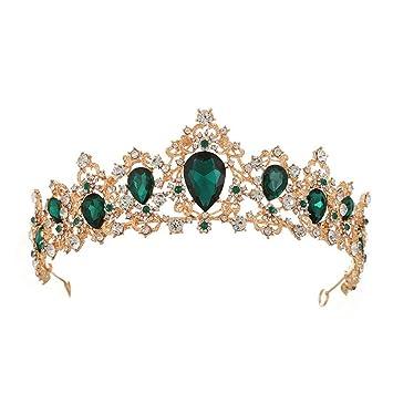 "Floral Bridal Wedding Crowns 5.2/"" Crystal Tiaras Hair Combs Headband Accessories"