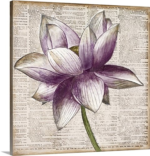 Patricia Pinto Premium Thick-Wrap Canvas Wall Art Print entitled Defined Lotus I