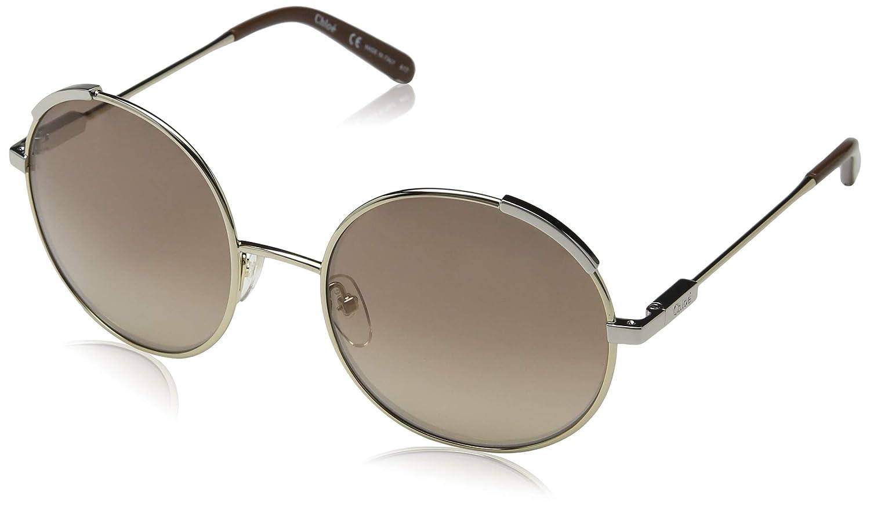 a24510842e3b Amazon.com  Chloe CE117S 743 Gold Brown Eria Round Sunglasses Lens Category  2 Size 56mm  Chloe  Clothing