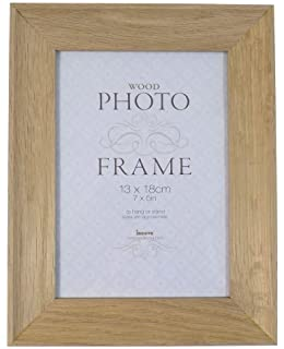 """STUDLEY LIGHT WOOD OAK TO HANG OR STAND GLASS PHOTO FRAME 8/"""" X 6/"""""""