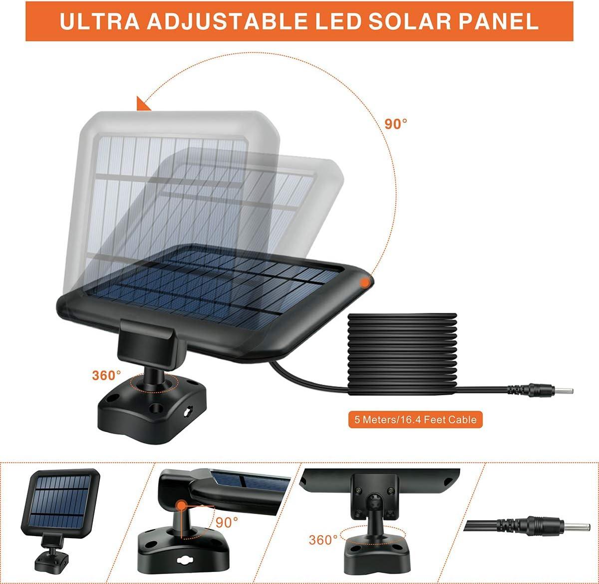 IP65 Wasserdichte Solar Wandleuchte Aussen mit Fernbedienung 90 LEDs Superhelle Solarlampen Aussen mit 3 Verstellbare K/öpfe und 360/° Einstellbar Solarleuchten f/ür Au/ßen mit Bewegungsmelder, 2 St/ück