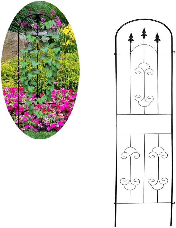 CJSWT Jardín Enrejado para Plantas trepadoras, Prueba de óxido de Hierro Negro Maceta Vines Verduras Paneles Flores Patio de Alambre de Metal Mallas de Rejilla, 86.6inchX19.6inch