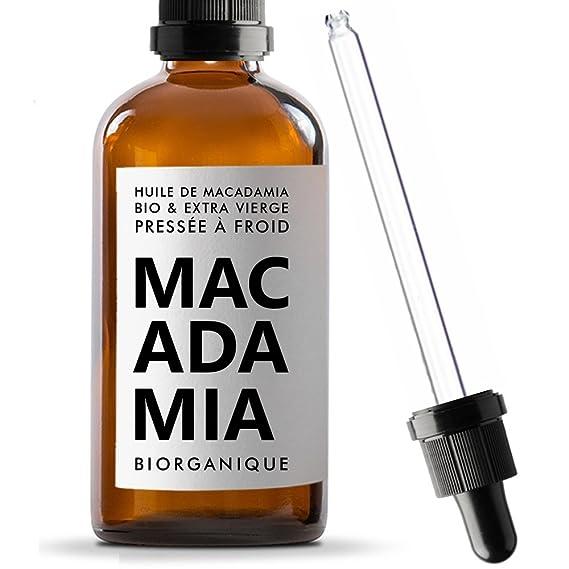 Biorganique - Aceite de macadamia 100% orgánico, puro y natural, para masaje y cuidado de cuerpo/piel, 100 ml: Amazon.es: Belleza