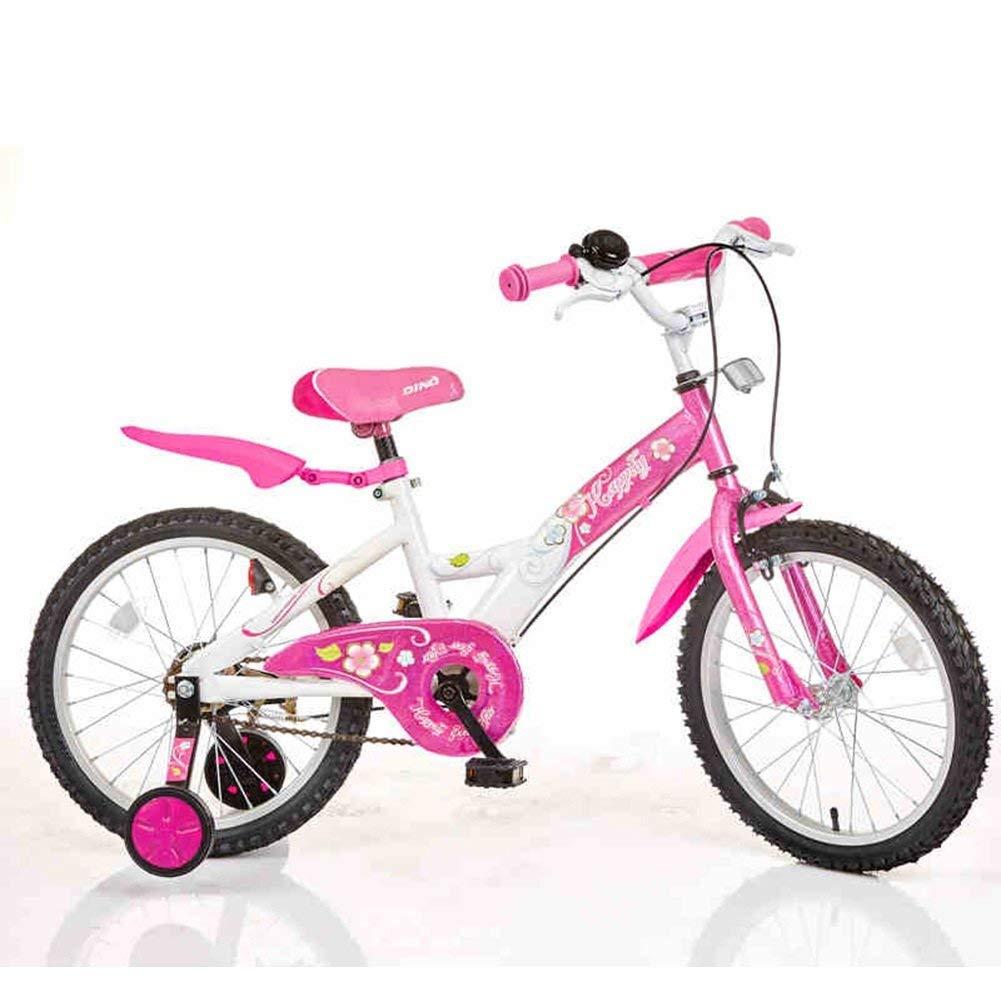 ファッション子供用自転車 - 子供の自転車18インチの男の子の女の子の自転車赤ちゃんの自転車4-6歳の乳母車  ピンク B07R8T4QMY