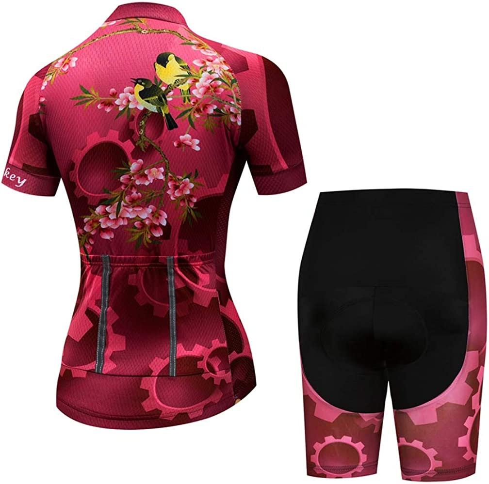transpirable ropa de ciclismo acolchado verano Maillot de ciclismo para mujer