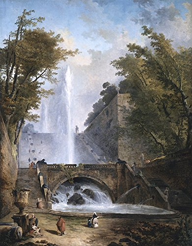 Hubert Robert Stair and Fountain in The Park of a Roman Villa Los Angeles County Museum of Art 30
