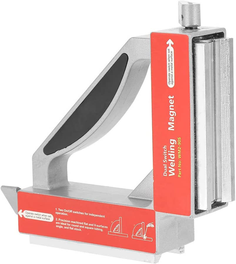 Bewinner Magnetic Welding Jig Dual Switch 90 Degree Magnet Welding Fixture Strong Magnetic Welder Jig Holder Welding Magnet Holder for Angle Fixed In Welding Processing Piratical Assistant