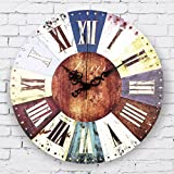 LooBooShop Vintage Home Decor Large Wall Clock Roman Numerals Frozen Living Room Decoration Wall Clock Gift orologi da parete