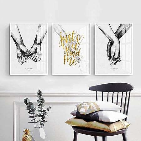 Nordic Ideas 3 Tableaux Poster 20x30 Noir Et Blanc Citation Peinture Toile Art Decoration Murale Moderne Impressions Sur Toile Affiches Deco Salon Ptls003 S Amazon Fr Cuisine Maison