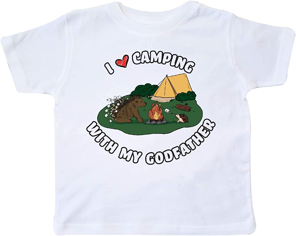 inktastic I Heart Camping with My Godfather Hedgehog and Toddler T-Shirt