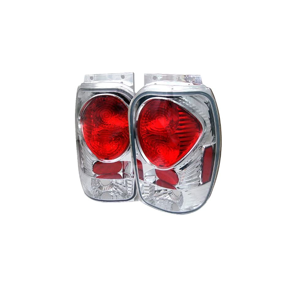 Spyder Ford Explorer 98 01 (Except 2001 Sport & Sport Trac) / Mercury Mountaineer 97 01 Altezza Tail Lights   Chrome