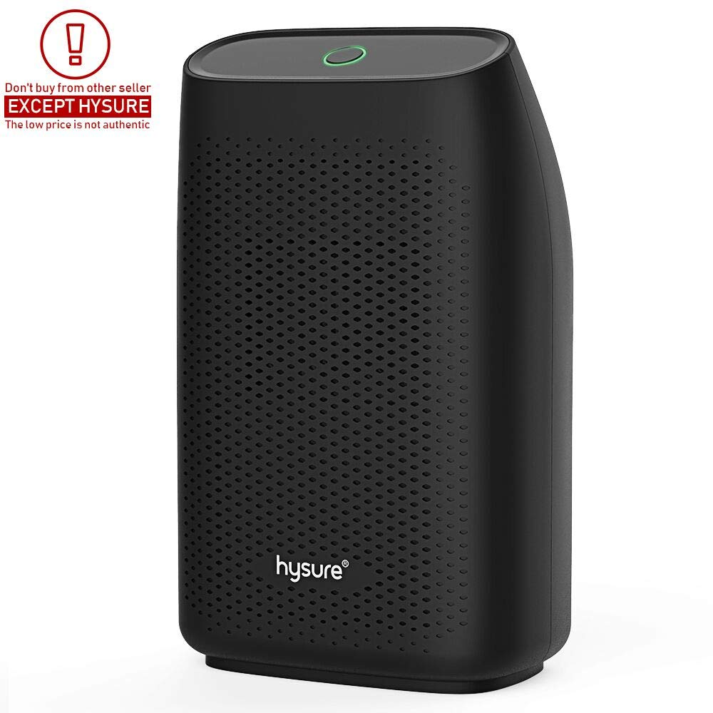 Hysure Dehumidifier,700ml Compact Deshumidificador 1200 Cubic Feet(215 sq ft) Quiet Room Dehumidifier, Portable Dehumidifier Bathroom Dehumidifier for Dorm Room, Baby Room, Home Black by Hysure