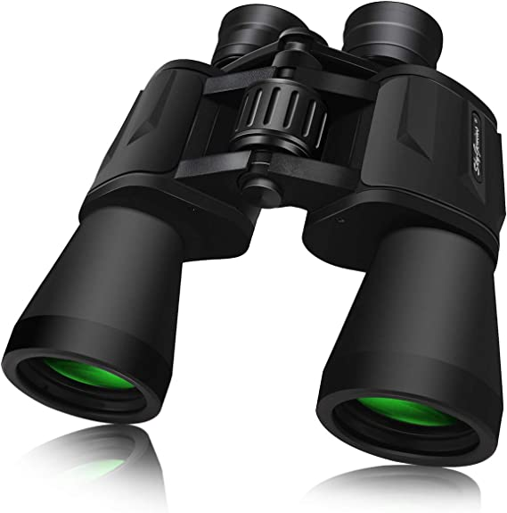 SkyGenius 10 x 50 Powerful Binoculars for Adults Durable Full-Size Clear Binoculars for Bird Watching Travel Sightseeing Hunting Wildlife Watching Outdoor Sports Games and Concerts