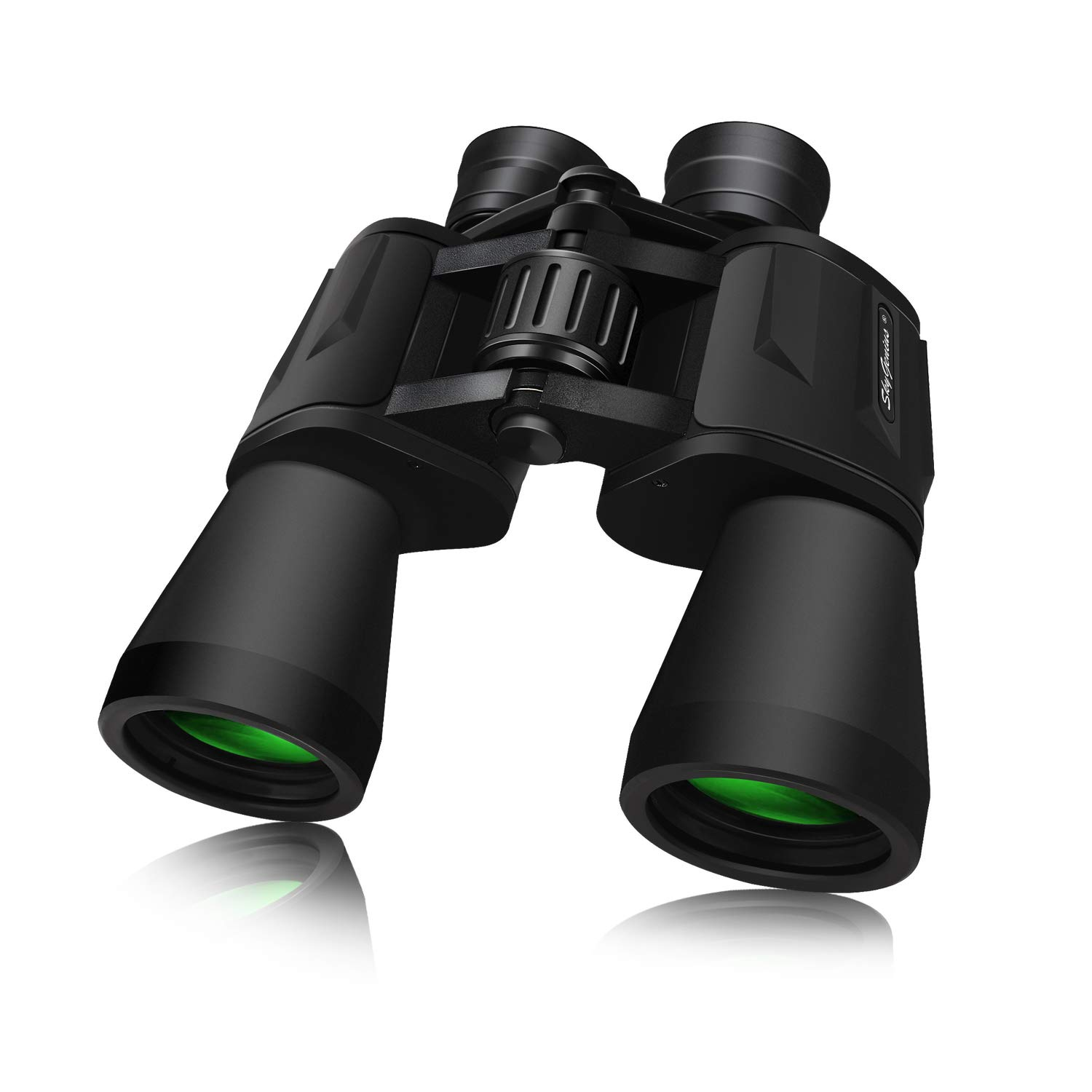 SkyGenius 10 x 50 Powerful Binoculars for Adults Durable Full-Size Clear Binoculars for Bird Watching Travel Sightseeing Hunting Wildlife Watching Outdoor Sports Games and Concerts by SkyGenius