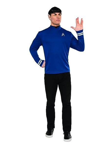 Spock Star Trek Original Series Classic Blue Shirt Halloween Adult Costume