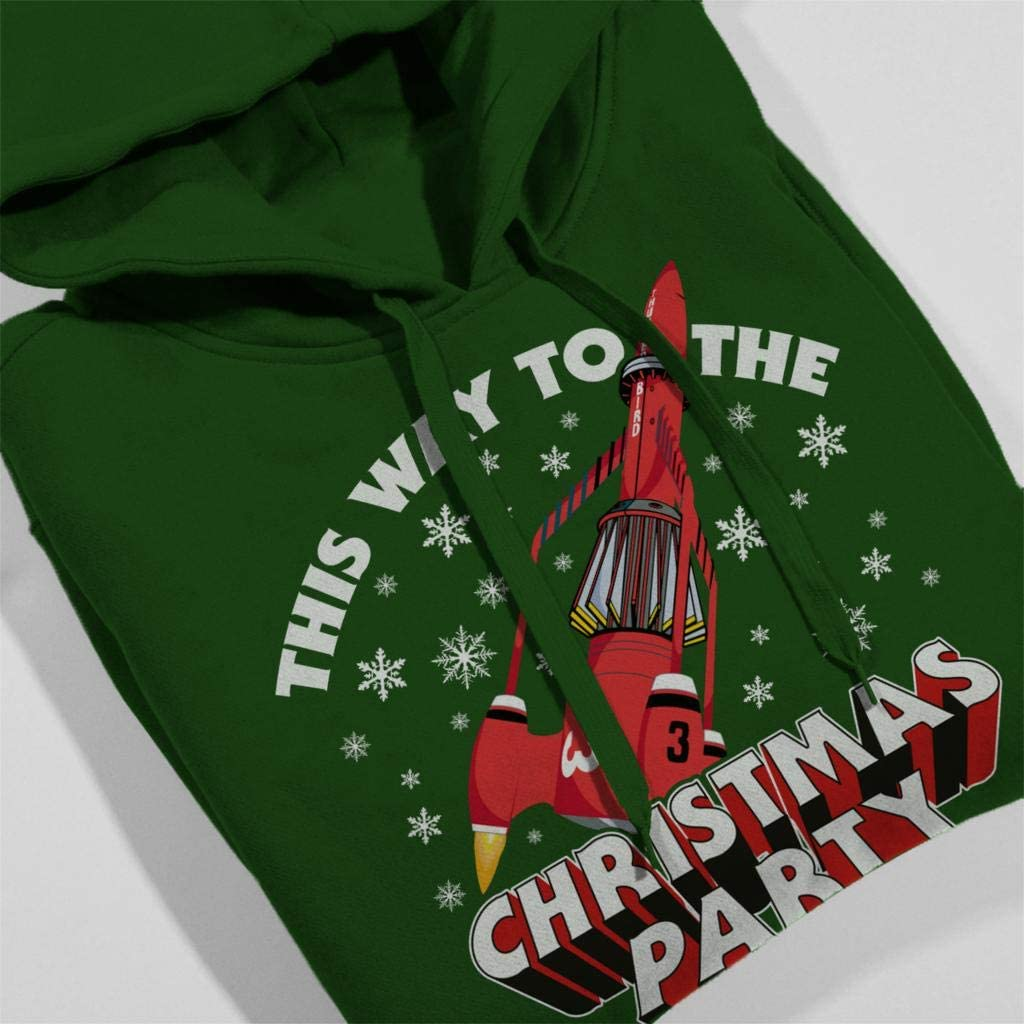 Thunderbirds 3 This Way to The Christmas Party Womens Hooded Sweatshirt