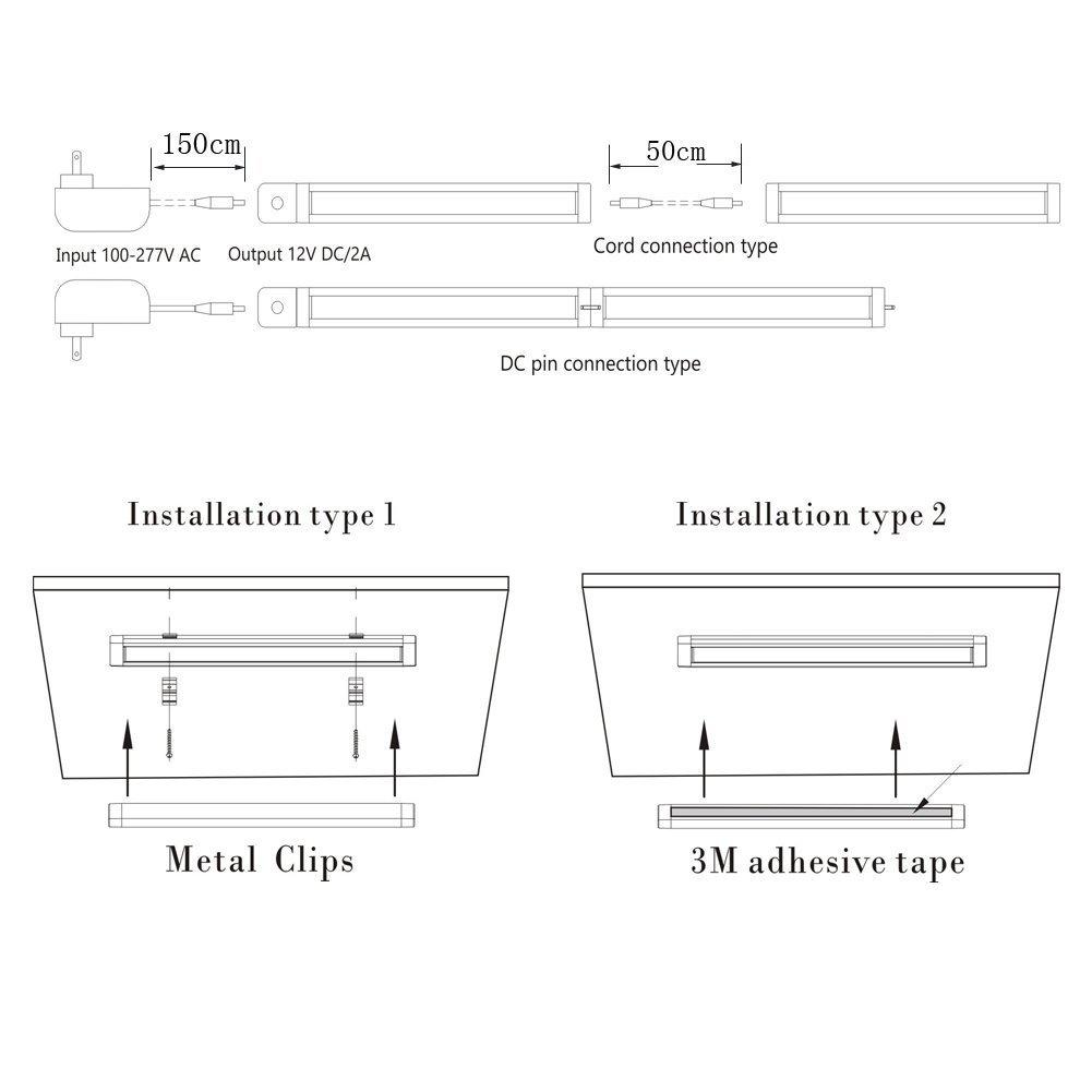 Fvtled Led Unterbauleuchte Schrankleuchte Lichtleiste 1er Set Yam Wiring Diagram 30cm 300lm Kchenleuchte Mit Ir Bewegungssensor Ideal Als