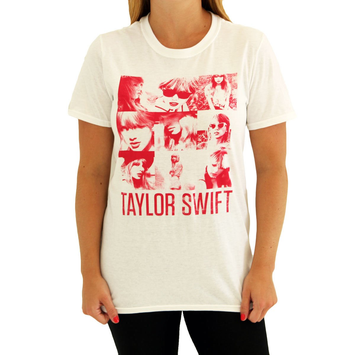 Taylor Swift White Squares Tee T-Shirt Youth Sizes (Youth Medium)