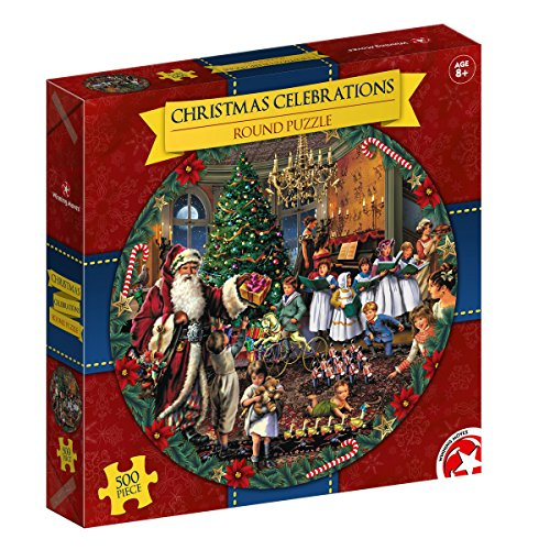 Christmas Celebration - Round 500 Piece Puzzle