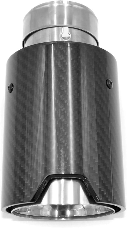 Auspuffblenden Endrohre Carbon Kohlefaser Auto Auspuffspitze 63mm Universal Rund Auspuffendrohr Auspuff Endst/ück Endschalld/ämpfer Spitze Auspuffrohr Heckspitze