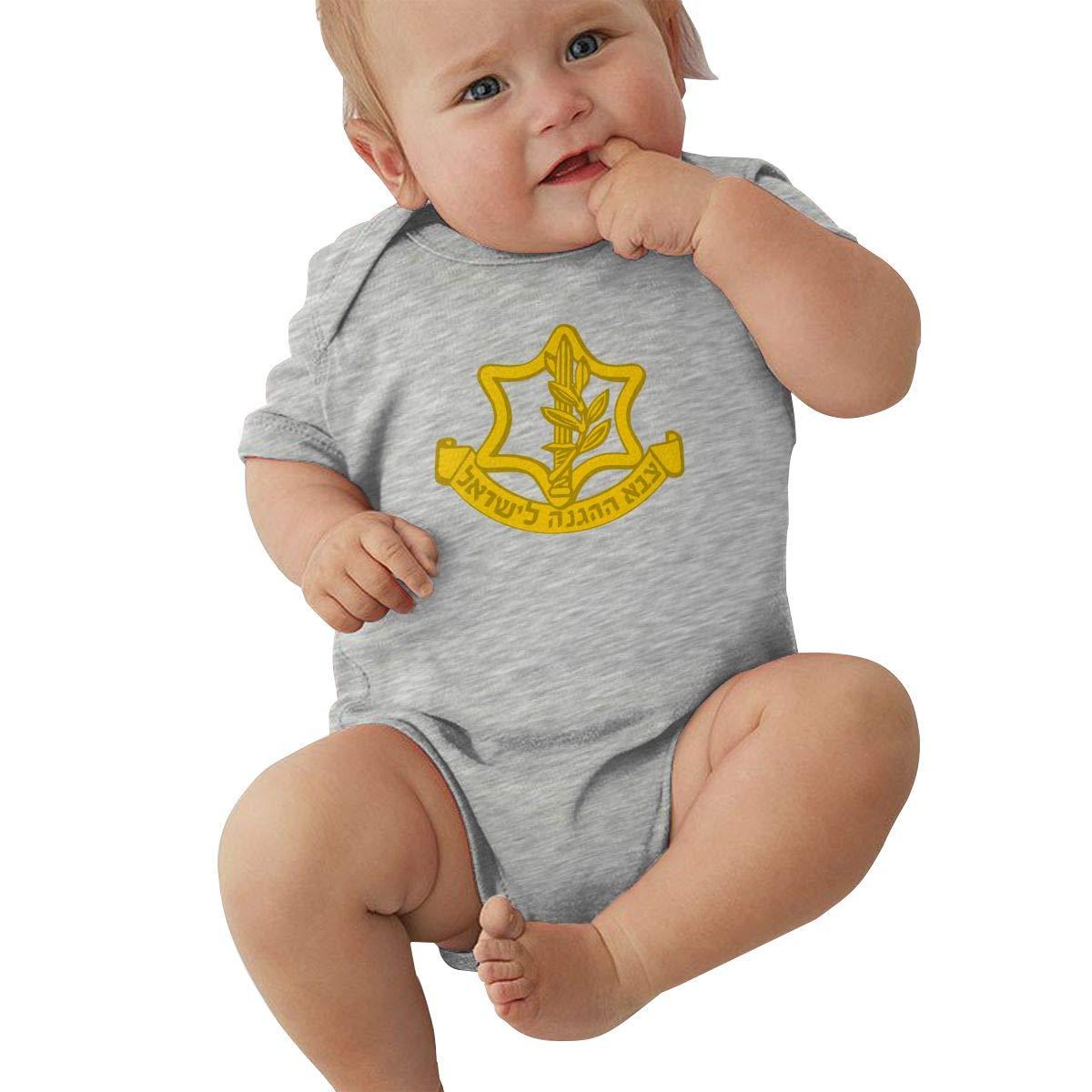 The IDF Logo Fashion Newborn Baby Short Sleeve Bodysuit Romper Infant Summer Clothing Black