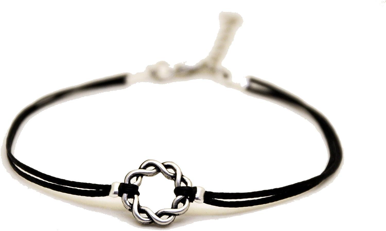 Foot Jewelry Karma Bracelet Cord Anklet Ankle Bracelet Karma Anklet Silver Karma Cord Anklet Eternity Anklet Circle Anklet