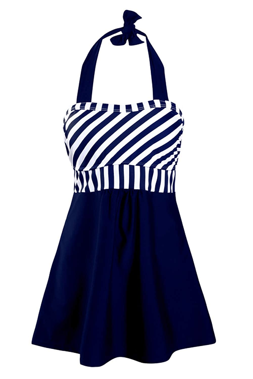 momolove Womens Two-Piece Swimdress Modest Swimsuits Tummy Control