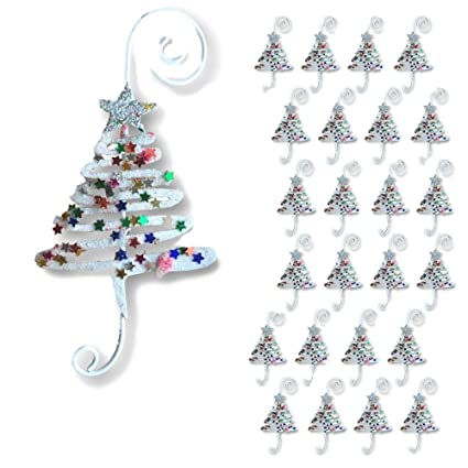 Amazon Com Banberry Designs Christmas Ornament Hooks Set Of 24