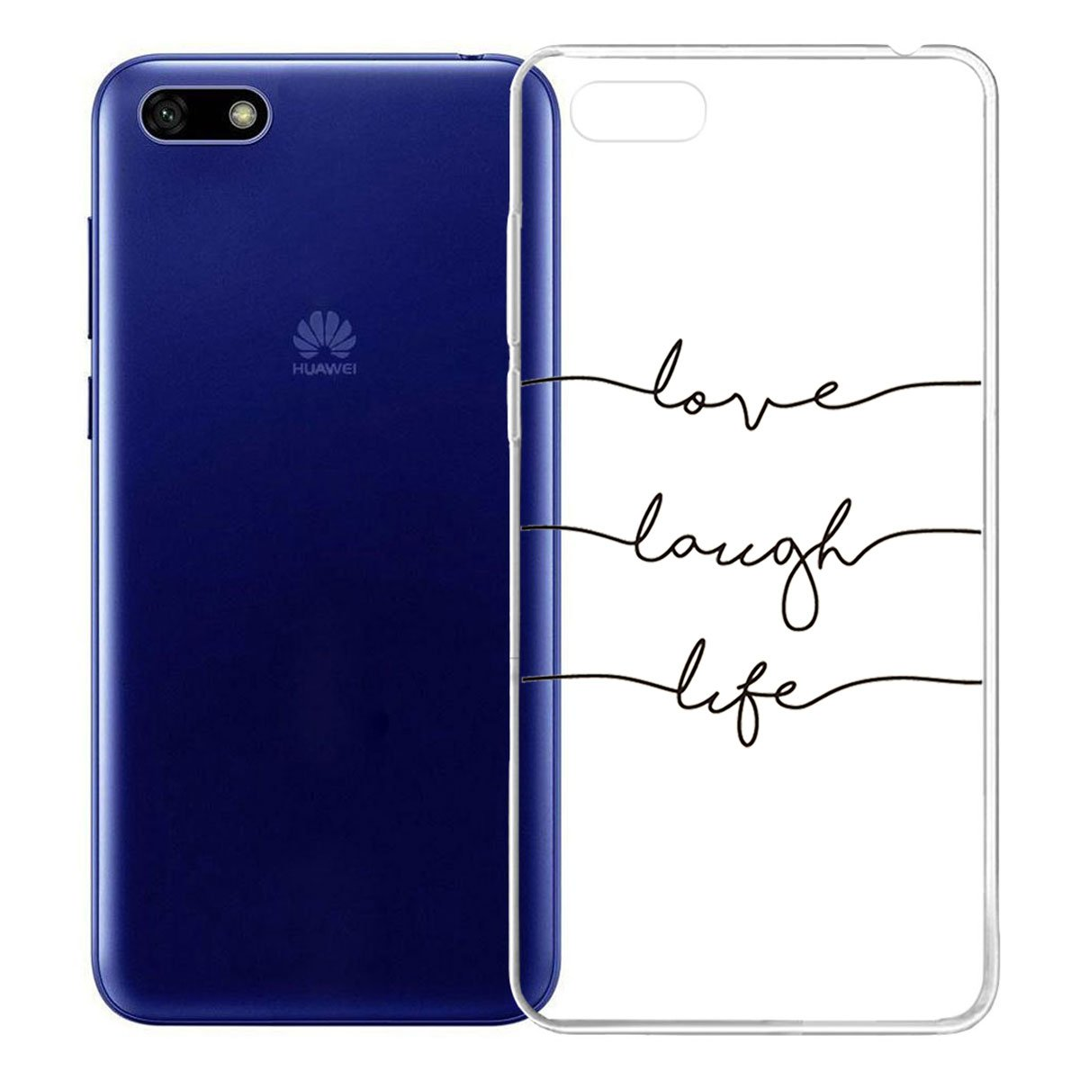 Honor 7s Huawei Y5 Prime 2018 Honor 7s Huawei Y5 Prime 2018 5.45 IJIA Case Funda para Huawei Y5 2018 Transparente Sencillo pausas Musicales TPU Silicona Suave Cover Tapa Caso Parachoques Carcasa Cubierta para Huawei Y5 2018