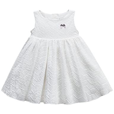 2efc2e827 Amazon.com  Baby Girl Dress White Dress Lace Toddler Party Dress ...
