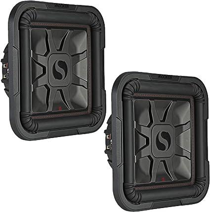 Kicker 46L7T82 Car Audio L7T Shallow Mount 8 Sub Square L7 Subwoofer L7T82 New
