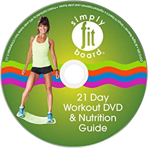 Simply Fit Board Workout DVDs - 21 Day Challenge DVD, Core & Buns DVD, Low Impact DVD