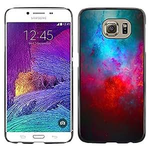 Paccase / Dura PC Caso Funda Carcasa de Protección para - Universe Cosmos Red Blue Galaxy Modern Art - Samsung Galaxy S6 SM-G920