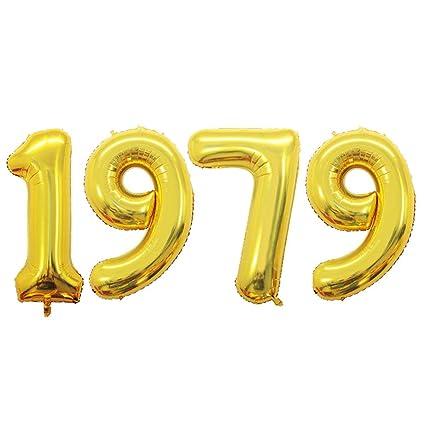 Amazon GOER 42 Inch Gold Number Balloons 1979Helium