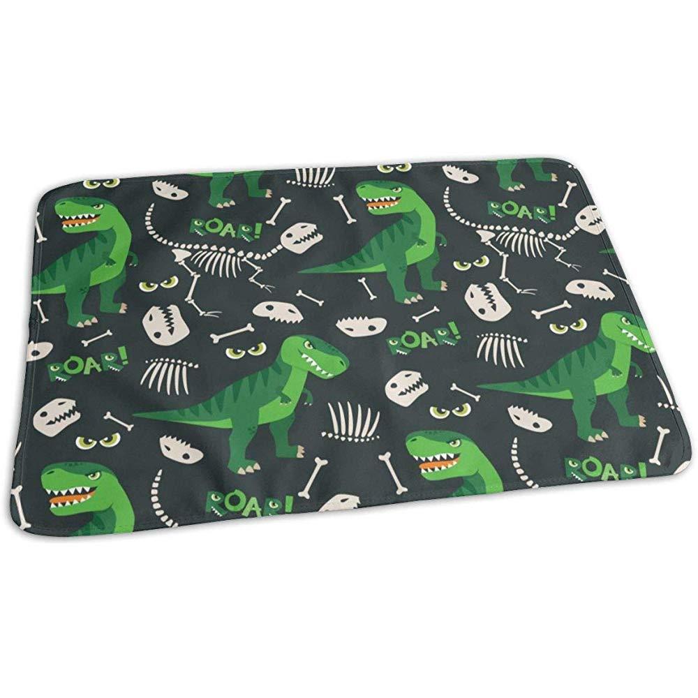 Wickeltischauflage,T Rex Und Dino Bones Roar Pattern Auff/ällige Wickelunterlagen F/ür Kinder Im Kinderwagen 65x80cm