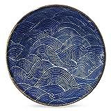 Aranami Blue Wave Serving Bowl