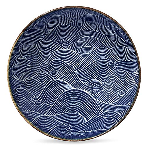 Aranami Blue Wave Serving - Ceramic Japanese