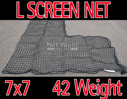 Baseball 7 x 7 Replacement L-Screen Net 36'' x 36'' Cut Out #42 [Net World Sports] by Net World Sports