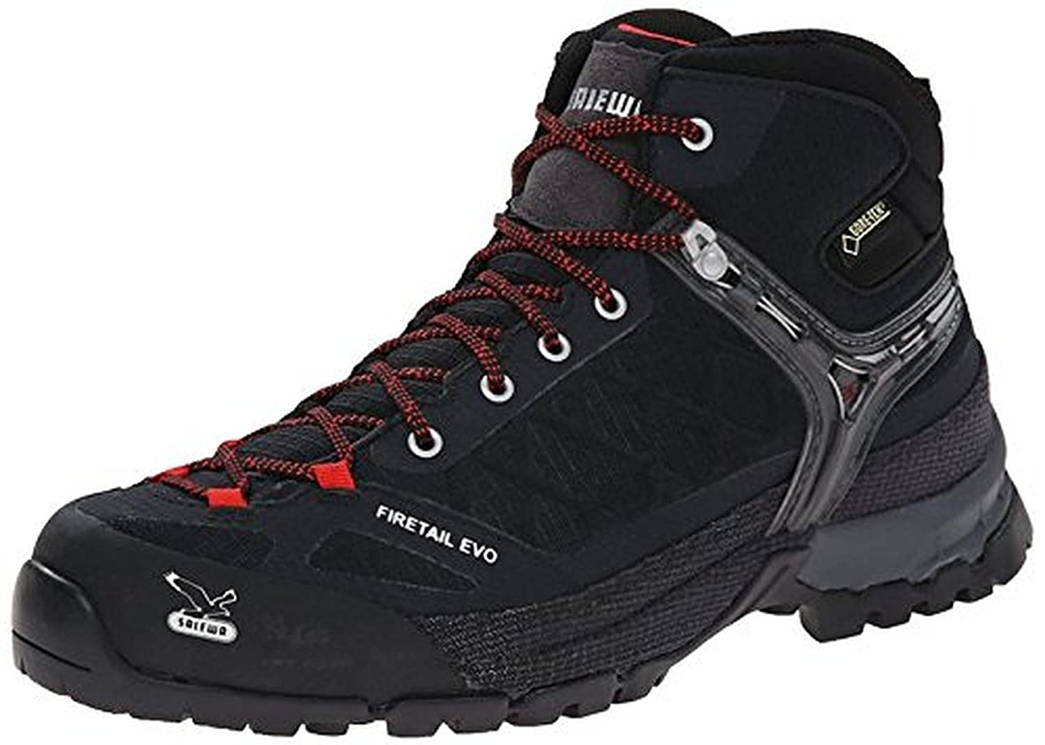 Salewa Men's Firetail Evo Mid GTX Boots Black 9 & Etip Lite Gripper Glove Bundle