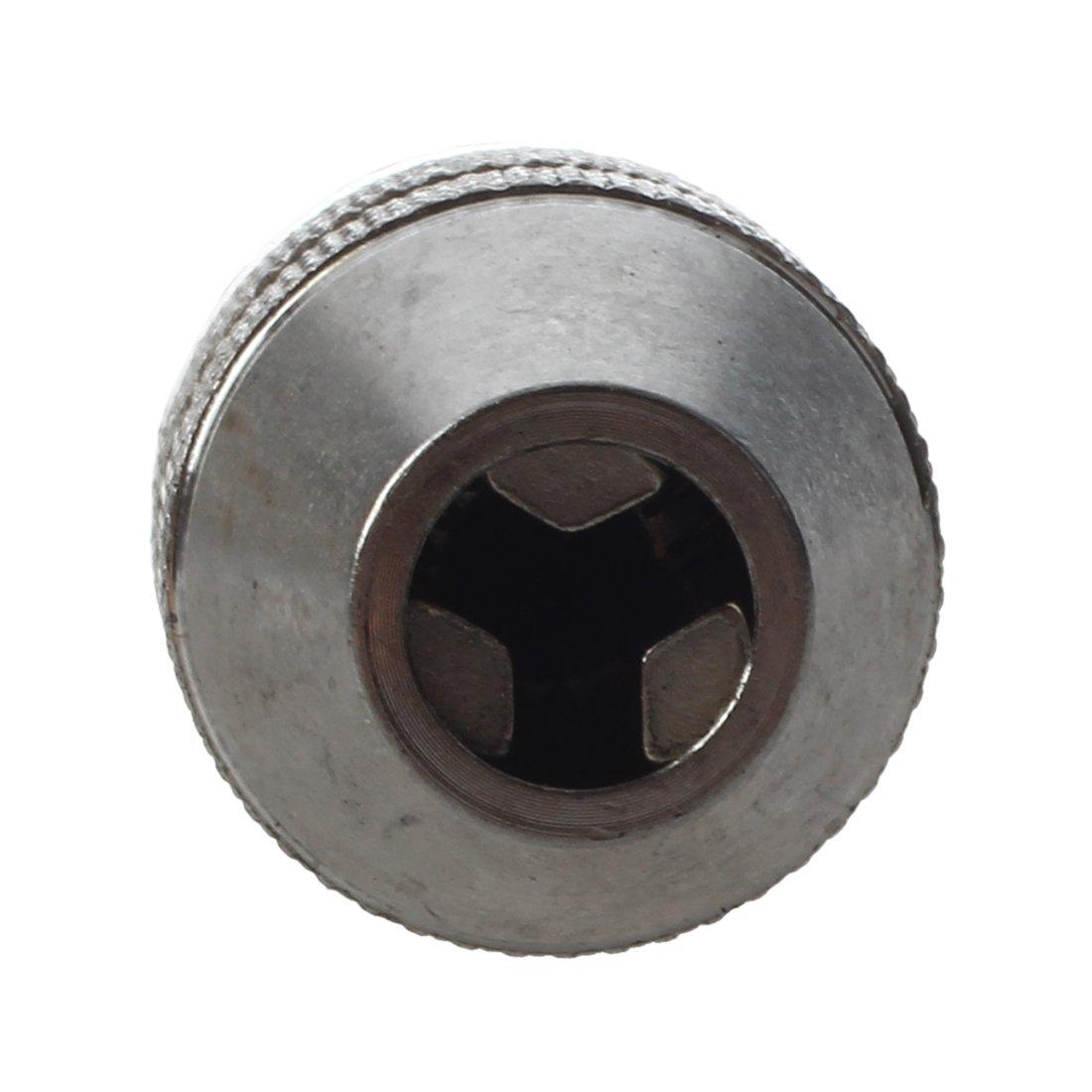 ACAMPTAR Plata Negro 6 mm Broca Portabrocas sin llave de cambio rapido convertidor del adaptador de vastago hexagonal