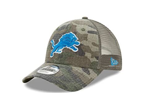 brand new b564f 733b3 Image Unavailable. Image not available for. Color  Detroit Lions Camo  Trucker Duel New Era 9FORTY Adjustable Snapback Hat ...