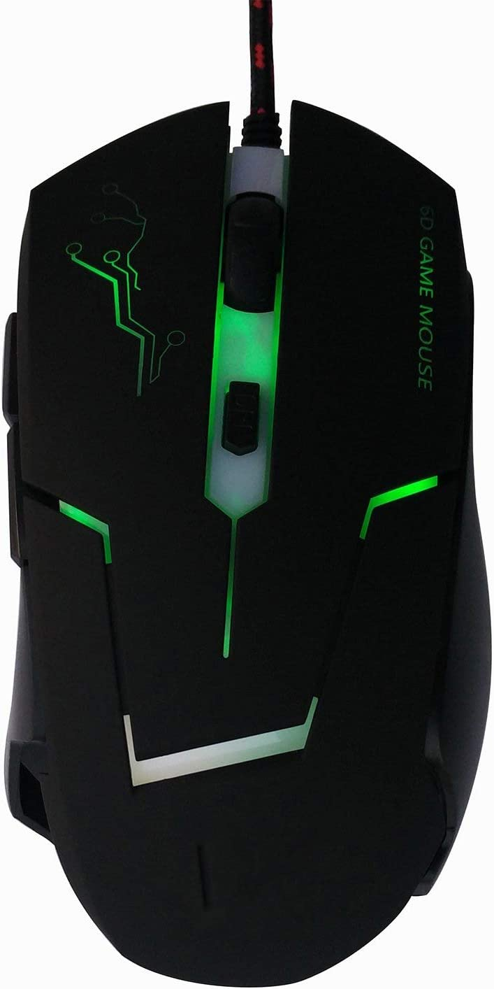 Ergonomic mice for Pro Gamer DDDF High Precision DPI Symmetrical Optical USB Mouse Wired with 6 Keys Gaming Mouse