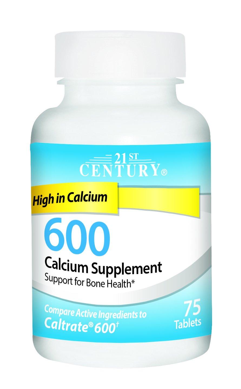 21st Century Calcium Supplement, 600 mg, 75 Count